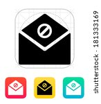 spam mail icon.