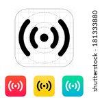 radio waves icon. wireless...