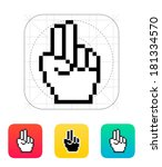 two fingers. pixel hand cursor...