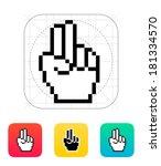 two fingers. pixel hand cursor...