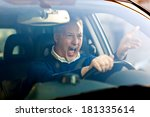 angry driver | Shutterstock . vector #181335614