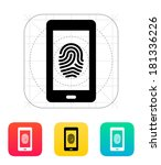 phone fingerprint icon.
