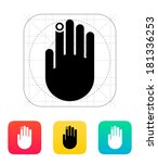 hand finger id icon.