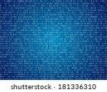 blue screen computer binary... | Shutterstock .eps vector #181336310