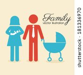 family design over beige... | Shutterstock .eps vector #181336970