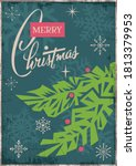 merry christmas 2021 greeting... | Shutterstock .eps vector #1813379953