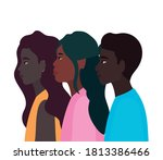 diversity skins of black women... | Shutterstock .eps vector #1813386466
