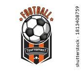 soccer logo design template.... | Shutterstock .eps vector #1813408759