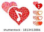 mosaic romance icon organized... | Shutterstock .eps vector #1813413886