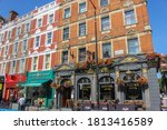 Small photo of London / UK - September 11 2020: The Blackbird pub, Fuller's Brewery, Earl's Court, West London