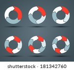 modern vector info graphic for... | Shutterstock .eps vector #181342760