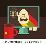 computer screen in retro colors....   Shutterstock .eps vector #181344884