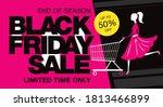 black friday sale banner layout ...   Shutterstock .eps vector #1813466899