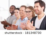 applauding to corporate... | Shutterstock . vector #181348730