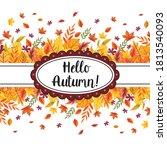 hallo autumn vector... | Shutterstock .eps vector #1813540093