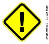 warning sign | Shutterstock . vector #181355084