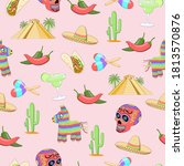 Seamless Wallpaper Of Mexican...