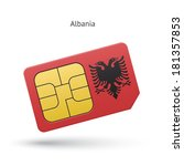 albania mobile phone sim card... | Shutterstock .eps vector #181357853