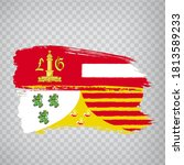 flag of  liege brush strokes....