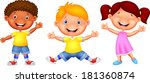 happy kid cartoon | Shutterstock .eps vector #181360874