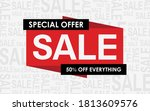 sale banner with sale word... | Shutterstock .eps vector #1813609576