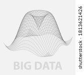 big data 3 dimensional graph.... | Shutterstock .eps vector #1813621426