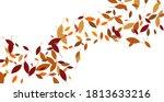 leaves. throw autumn leaves.... | Shutterstock .eps vector #1813633216