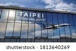 Jet Aircraft Landing At Taipei...