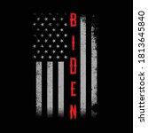 usa flag design with biden... | Shutterstock .eps vector #1813645840