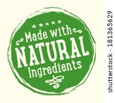 natural ingredients badge | Shutterstock .eps vector #181365629
