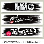set of black friday sale... | Shutterstock .eps vector #1813676620