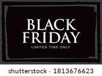 black friday sale banner layout ...   Shutterstock .eps vector #1813676623