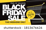 black friday sale banner layout ... | Shutterstock .eps vector #1813676626