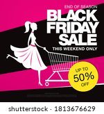 black friday sale banner layout ... | Shutterstock .eps vector #1813676629