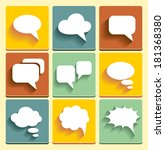 set speech bubble icons for web ... | Shutterstock .eps vector #181368380
