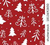 concept of christmas pattern... | Shutterstock .eps vector #1813692850