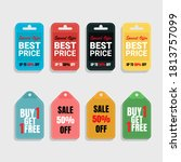 sale tags and discount label...   Shutterstock .eps vector #1813757099