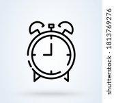 alarm clock icon or logo line...