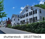 Street Of Old Colonial Houses...