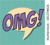pop art text bubble ... | Shutterstock .eps vector #181378826
