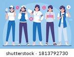 content creator character...   Shutterstock .eps vector #1813792730