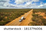 Aerial View Of 4wd Vehicle And...