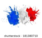 french flag made of colorful... | Shutterstock .eps vector #181380710