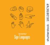 international day of sign... | Shutterstock .eps vector #1813858769