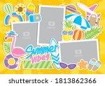 cute summer elements vector set ... | Shutterstock .eps vector #1813862366