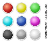 promotional stickers. colorful... | Shutterstock .eps vector #181387280
