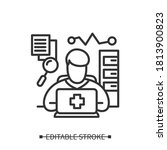 health information manager icon.... | Shutterstock .eps vector #1813900823