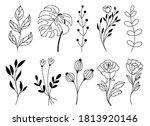 set of vector doodle hand drawn ...   Shutterstock .eps vector #1813920146