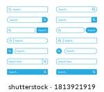 search bar set . vector...