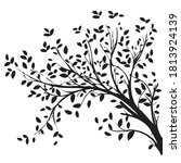 laser cut tree design with... | Shutterstock .eps vector #1813924139